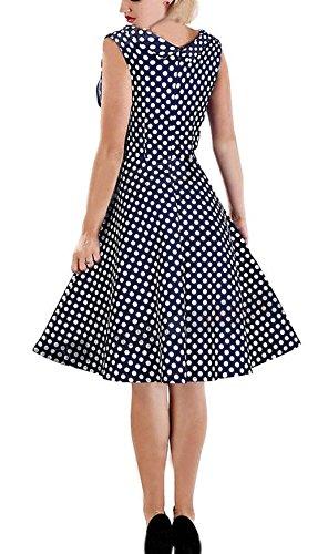 Ecollection Damen Audrey Hepburn 50s Retro vintage Bubble Skirt Rockabilly Swing Evening Kleider