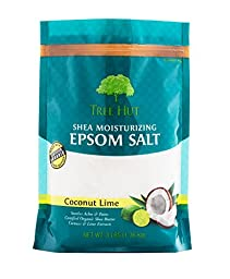 Tree Hut Shea Moisturizing Epsom Salt, Coconut Lime, 3 lb Bag