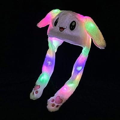 Rabbit CapFunny Creative Bunny Moving EarsPlush Cute HatHoodAdult Kids New