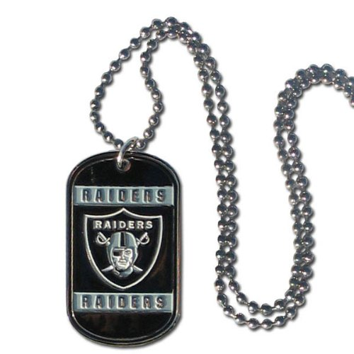 NFL Oakland Raiders Dog Tag Necklace ()
