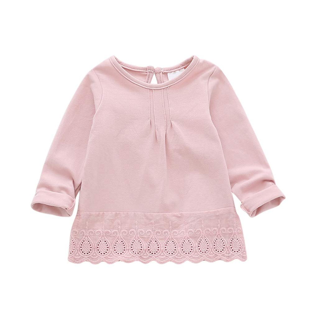 Urmagic Baby Blouse for 6M-5Y Years Old Girls, Toddler Baby Kids Long Sleeve T-Shirt Tops Blouse