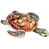 Lively Moments Reittier Schildkröte in braun/Schwimmtier mit Haltegriffen/Luftmatratze/Badeinsel ca. 175 x 148 cm