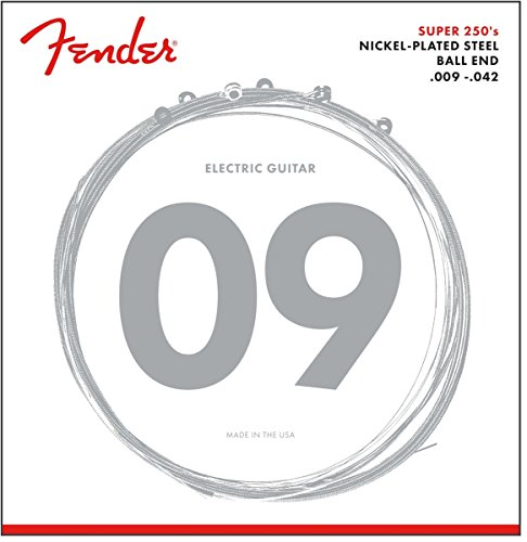 Fender 250L Nickel Plated Steel Electric Guitar Strings - Li