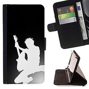 Momo Phone Case / Flip Funda de Cuero Case Cover - Guitar Silhouette - Sony Xperia Z1 L39