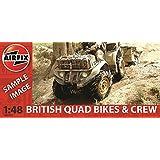 Airfix British Quad Bikes and Crew Set 1:48 Scale Plastic Model Kit A04701