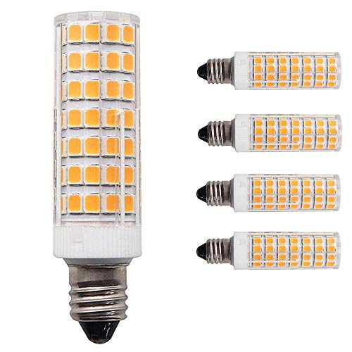 ([4-Pack] E11 led Bulb 75W 100W Halogen Bulbs Equivalent, t4 jd e11 Mini Candelabra Base 1000lm Warm White 3000K 110V 120V 130V Input)