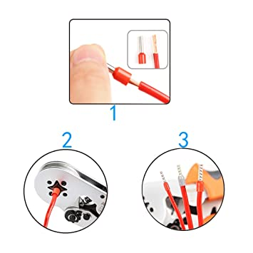 Black+Red 70PCS 4 Gauge Ferrule Connectors End Terminal Insulated Ferrule .Work Great for 4 Gauge Car amp Widely Used in Electronics Clean Install Communication Equipment.