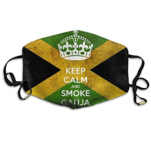 (uZQKWFThLX Keep Calm Flag of Jamaica Mouth Mask Earloop Germ Dust Protection Mask Outdoor Breathable)