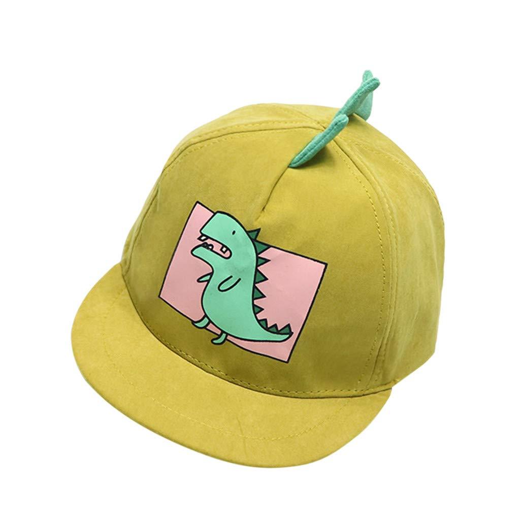 Baby Boys Girls Hats Soft Cotton Dinosaur Sunhat Eaves Baseball UV Protection Cap Sun Hat Beret 1-4 Years