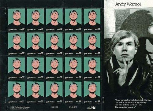 Andy Warhol Sheet of Twenty 37 Cents Stamps Scott 3652
