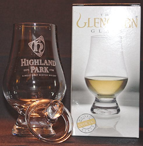 HIGHLAND PARK LOGO GLENCAIRN SINGLE MALT SCOTCH WHISKY TASTING GLASS WITH GINGER JAR TOP