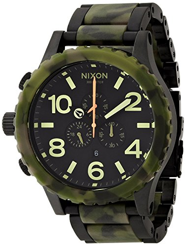 NIXON 51-30 CHRONO: MATTE BLACK / CAMO NA0831428-00 Men