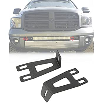 Amazon piaa 30753 light bar for dodge ram 1500 automotive ram light bar mount alavente front bumper hidden brackets kit for dodge ram 2500 3500 aloadofball