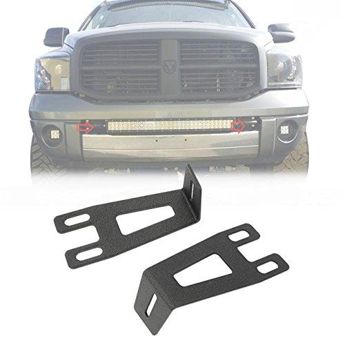 Ram Light Bar Mount - ALAVENTE Front Bumper Hidden Brackets Kit For Dodge Ram 2500 3500 2003-2014 Apply to 20
