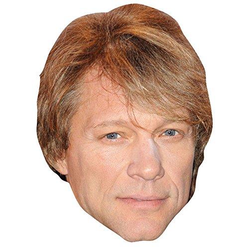 Celebrity Cutouts Jon Bon Jovi Mask, Cardboard Face and Fancy Dress Mask ()