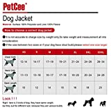 PetCee Dog Jacket Waterproof Fleece Dog Coats (Orange,XXL)