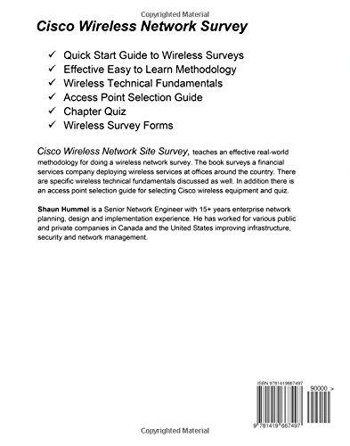 Cisco Wireless Network Site Survey: Shaun Hummel: 9781419667497:  Amazon.com: Books