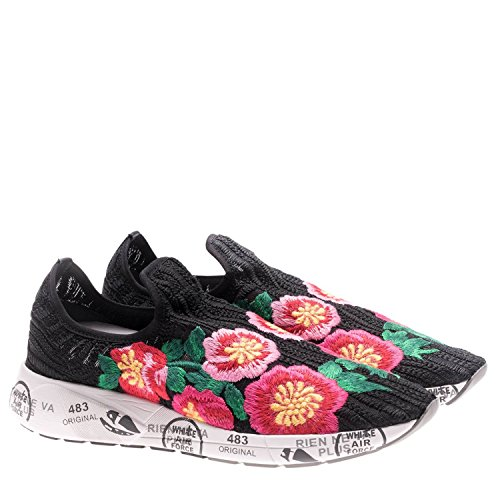 cheap low shipping outlet get authentic PREMIATA Women's JANEI2986 Black/Red Fabric Slip On Sneakers sale pictures footlocker finishline cheap price low price sale online YioV98