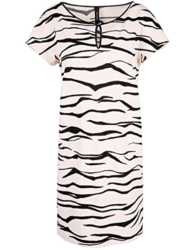 Marc Cain Collections Gc 21.12 J10, Vestido para Mujer Weiß (shell 161)