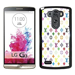 Hot Sale LG G3 Case ,Popular Unique Designed Case With LL Patterns On White Background Black For LG G3 Case High Quality Phone Case
