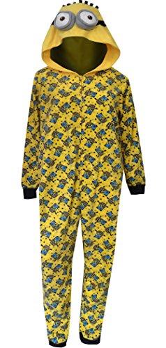 Despicable Me Women's Ladies One Piece Pajama Minion Plus, Yellow, 1X -