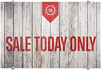36x24 Nautical Wood Premium Brushed Aluminum Sign Sale Today Only CGSignLab