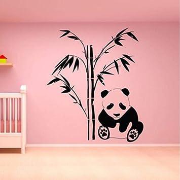Whwd 49X42 Cm Panda Tatuajes De Pared Panda Bear Etiqueta Engomada ...