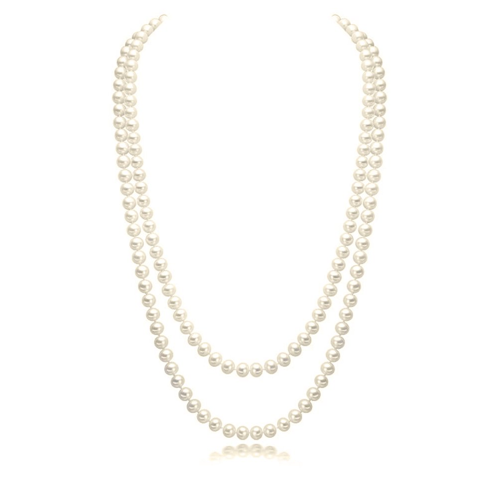 3808ff79ff765 Buy CrazyPiercing Imitation Pearls Flapper Beads Cluster Long Pearl ...
