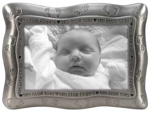 Malden Ten Little Fingers, Ten Little Toes Pewter Frame, Pewter, Baby & Kids Zone