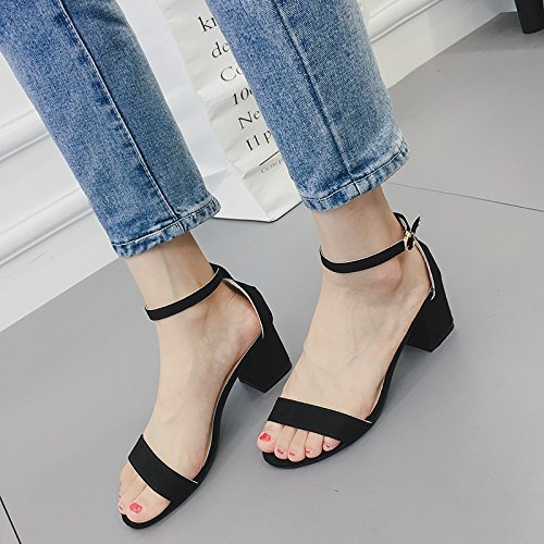 69d3d28f383e78 LGK FA Summer Women S Sandals High Heeled Sandals Summer Coarse With Bare  Color Women S Shoes Toe - Buy Online in Oman.