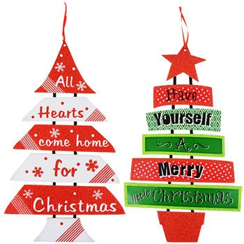 Amazon holiday greetings glittery hanging welcome sign tree holiday greetings glittery hanging welcome sign tree indoor outdoor wall decor quot solutioingenieria Image collections