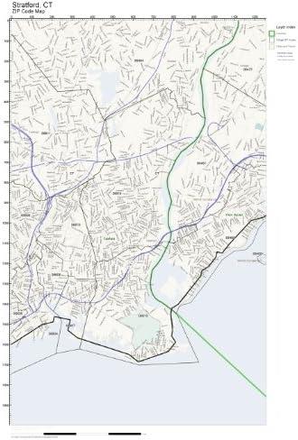 stratford ct zip code map Amazon Com Zip Code Wall Map Of Stratford Ct Zip Code Map Not