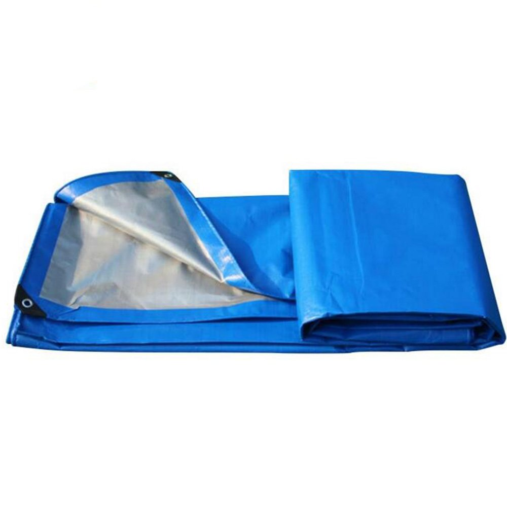 pengbu Meiduo TarpsブルーシルバーPEプラスチックWovenサンシェードTarpaulin防水と防雨日焼け止めテント布 B07DT5XD8H  ブルー 6*7m