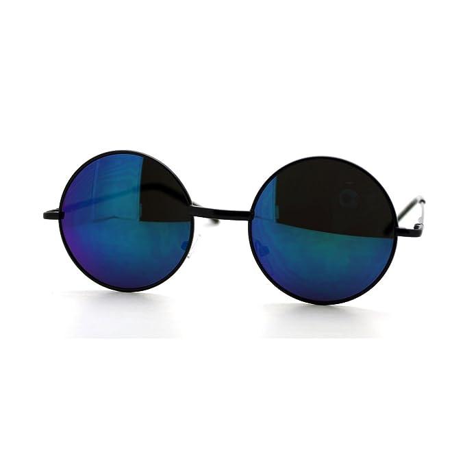 Amazon.com: Ronda Círculo Marco anteojos de sol Thin metal ...