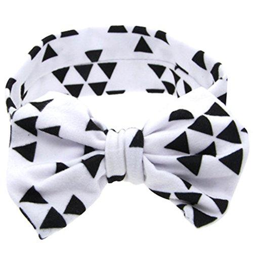ZOONAI Baby Girls Toddler Bowknot Headband Infant Rabbit Ear Hair Band Headdress (White) Bowknot Rabbit