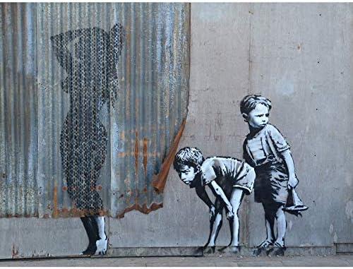 Banksy Dismaland Shower Graffiti Street Art Giant Canvas Art Print