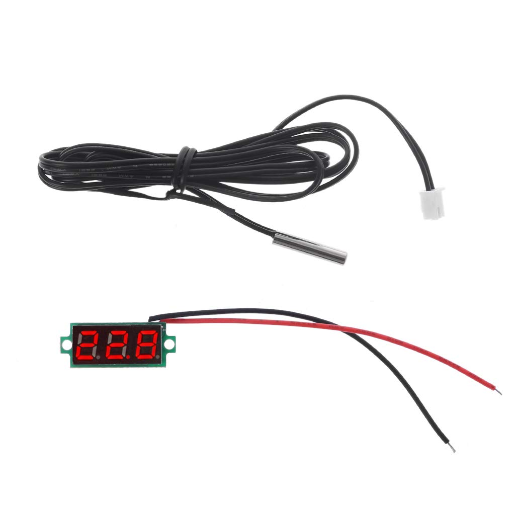 VIccoo Term/ómetro Digital con Pantalla de 0.28con Detector de Sensor de Temperatura de sonda de Metal NTC