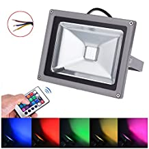 AURORA AUSTRALIS 20W RGB LED Flood Lights, Color Changing LED Security Light, 16 Colors & 4 Modes, Waterproof LED Floodlight, Wall Washer Light, Remote Control 90 - 240V AC (RGB, 20W)