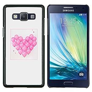 Eason Shop / Premium SLIM PC / Aliminium Casa Carcasa Funda Case Bandera Cover - El amor de San Valentín Gris Rosa - For Samsung Galaxy A5 ( A5000 ) 2014 Version
