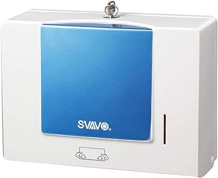 Dispensador de toalla de papel de montaje en pared SVAVO, dispensador de papel C-Fold/Multifold, soporte de caja de tejido montable: Amazon.es: Bricolaje y herramientas