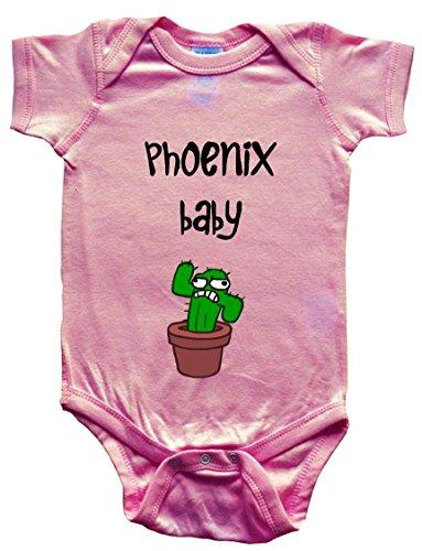 PHOENIX BABY - City Series - BigBoyMusic Baby Designs - Pink Baby One Piece Bodysuit - size Medium (12-18M)