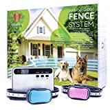 Invisible in Ground Electric Fence for Dogs – Simple Do-It-Yourself Installation Above Ground or Below Ground – Waterproof Wire, Collars, Free Training Guide