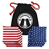 GoSports Official Regulation Cornhole Bean Bags Set (8 All Weather Bags) - Red/Blue & American