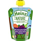 Heinz by Nature Organic Baby Food - Pear, Sweet Potato & Plum Purée - 128mL Pouch (Pack of 6)