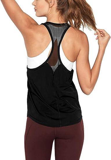 GO HEAVY Damen Racerback Sport Fitness Yoga Tank Top Gains