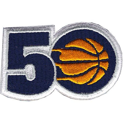 2017 Official NBA Indiana Pacers 50th Anniversary Small Jersey Patch by Patch Collection
