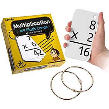 star education multiplication flash cards 0 12 all facts 169 cards with 2 rings