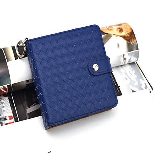IQOS Weaved Style Leather Electronic Cigarette Skin Case Bag Holder (Blue)