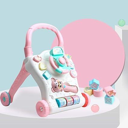 Liu Yue Anti-vuelco Andador Bebés, 2 in1 Multi-función Desmontable Robusto Cochecito. Pasa ...