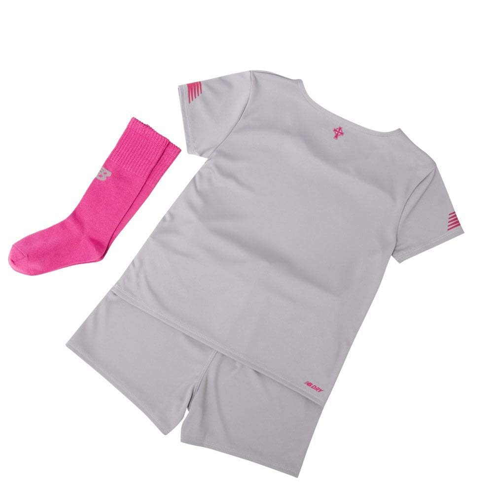 New Balance Celtic FC 2019//20 Junior Kids Football Third Mini Kit Grey//Pink